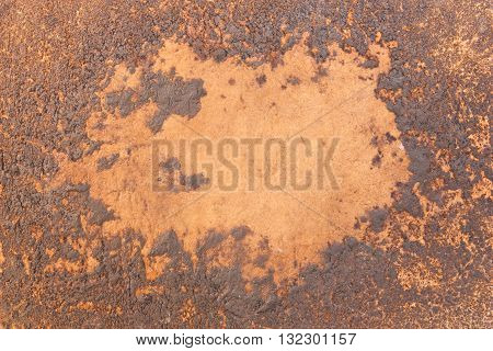 Close-up images of the surface of old antique leather drum, For texture and background.