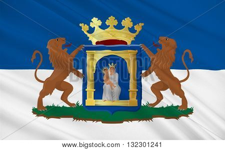 Flag of Assen is a municipality and a city in the northeastern Netherlands and is the capital of the province of Drenthe