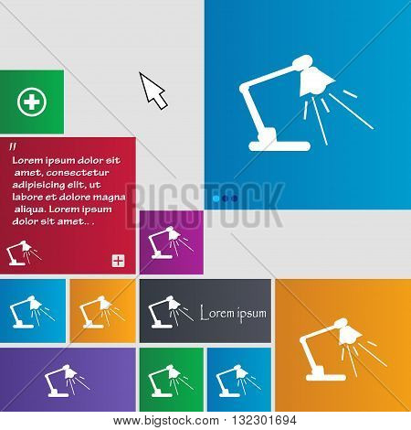 Reading-lamp Icon Sign. Buttons. Modern Interface Website Buttons With Cursor Pointer. Vector