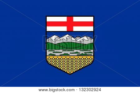 Flag of Alberta is a western province of Canada