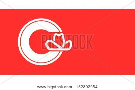 Flag of Calgary is a city in the Canadian province of Alberta