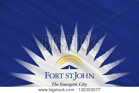 Flag of City of Fort St. John is a city in northeastern British Columbia Canada
