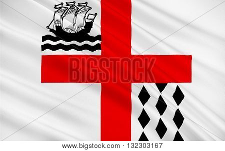 Flag of Nanaimo is a city on Vancouver Island in British Columbia Canada