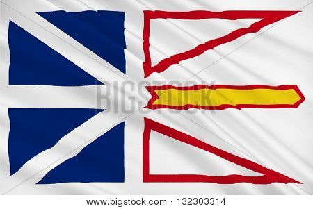 Flag of Newfoundland and Labrador is the most easterly province of Canada
