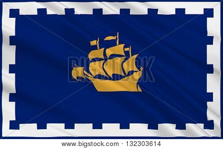 Flag of Quebec city is the capital of the province of Quebec in Canada