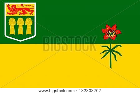 Flag of Saskatchewan is a prairie and boreal province in west-central Canada