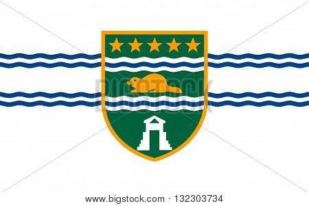 Flag of Surrey is a city in the province of British Columbia Canada
