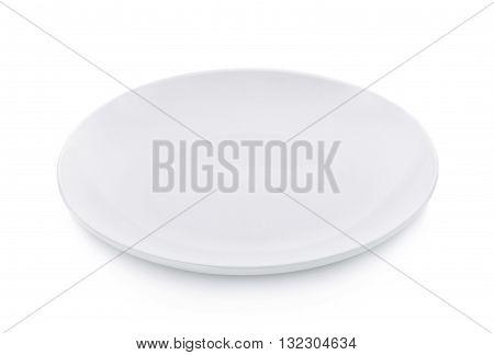empty plate isolated on white background dishware