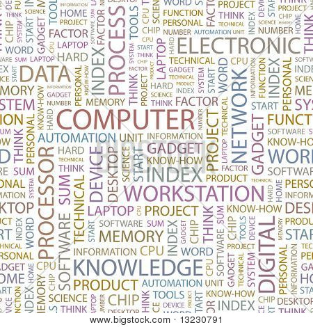 COMPUTER. Seamless vector pattern. Vector illustration.