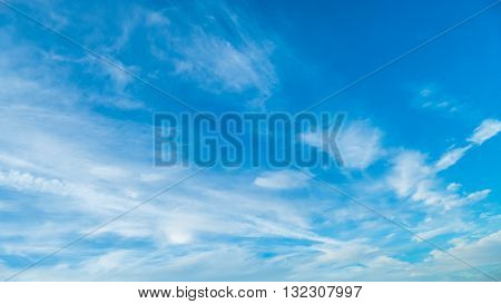 White Clouds And Summer Blue Sky.beautiful Fantastic Blue Sky
