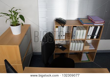Office Desk With Laptop, Job , Redundant, Business Concept