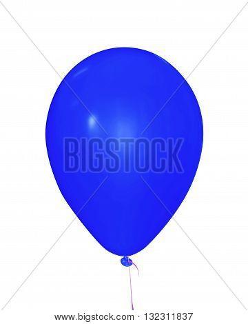 Balloon Isolated - Blue
