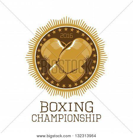 Boxing championship vector design element logo. Boxing concept