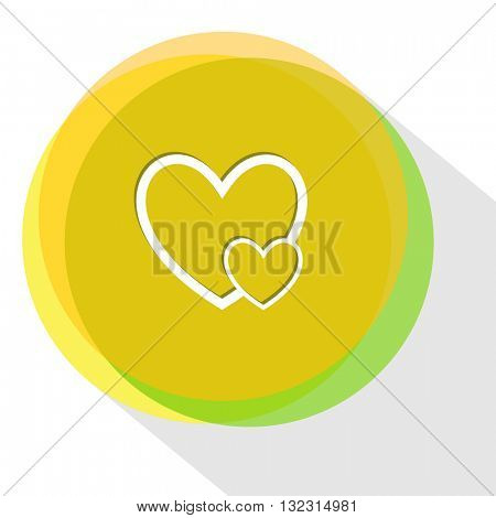 careful heart. Internet template. Vector icon.