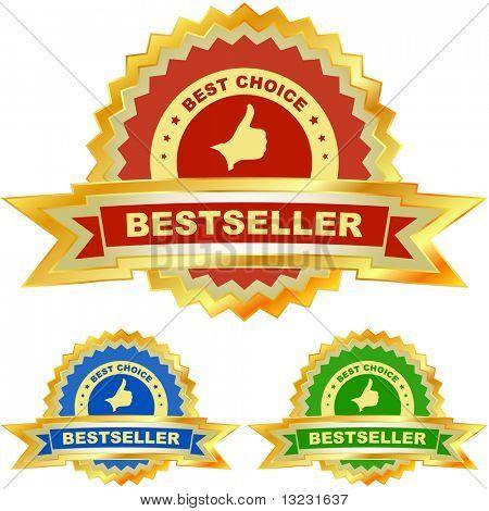 Bestseller emblem set.
