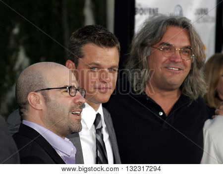 Matt Damon and Paul Greengrass at the Los Angeles premiere of 'The Bourne Ultimatum' held at the ArcLight Cinemas in Hollywood, USA on July 25, 2007.