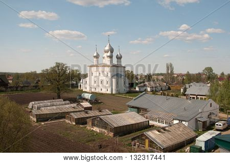 ROSTOV RUSSIA MAY 08. 2016: - Rostov the Great Spaso-Yakovlevsky Dmitriev monastery Church Of The Transfiguration (the Savior on the Sands)