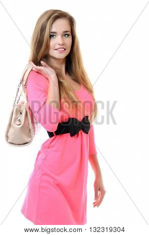 Portrait of a beautiful girl in  summer dress