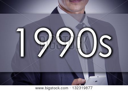 1990S - Young Businessman With Text - Business Concept