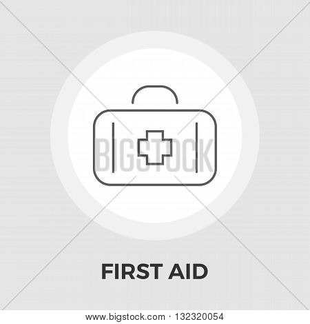 First aid icon vector. Flat icon isolated on the white background. Editable EPS file. Vector illustration.
