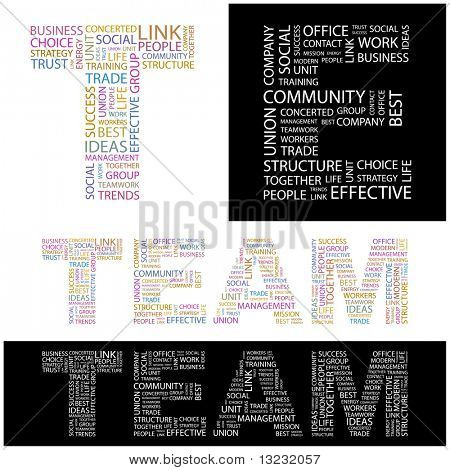 TEAM. Word collage. Vector illustration.