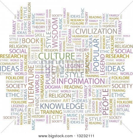 CULTURE. Word collage on white background. Vector illustration.