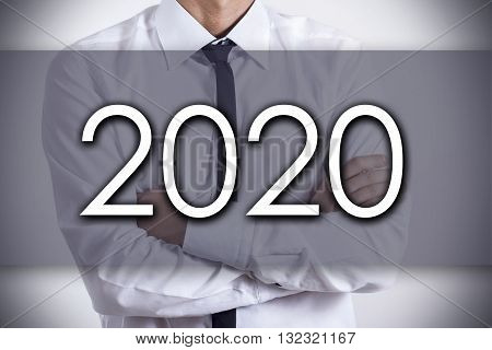 2020 - Young Businessman With Text - Business Concept