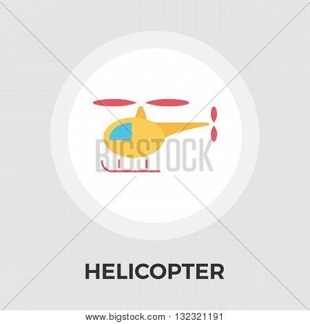 Helicopter icon vector. Flat icon isolated on the white background. Editable EPS file. Vector illustration.