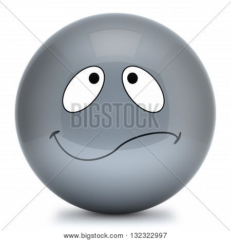 Grey Smiley 3D Emoticon