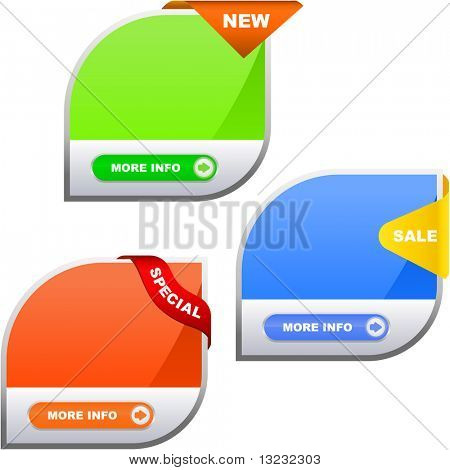 Vector collection of sale banners