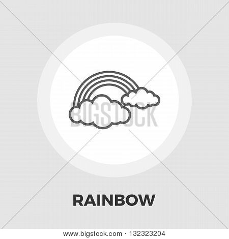 Rainbow icon vector. Flat icon isolated on the white background. Editable EPS file. Vector illustration.
