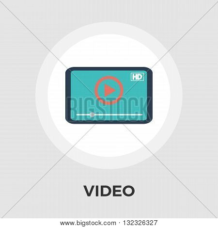 Video player icon vector. Flat icon isolated on the white background. Editable EPS file. Vector illustration.