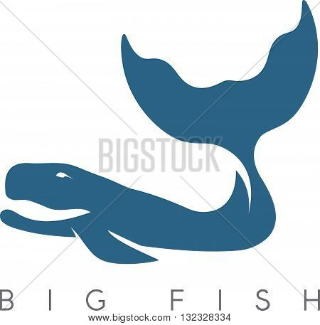 Abstract Vector Design Template Of Whale Cachalot