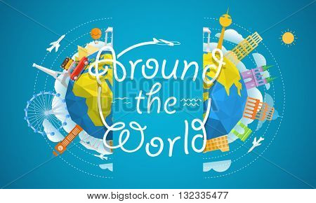 Travel vector illustration. Around the world concept.