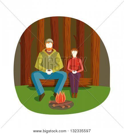 Bonfire night vector illustration.