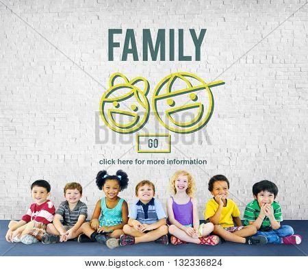 Family Relationship Parents Offspring Love Concept