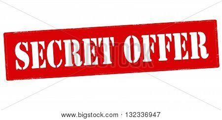 Rubber stamp with text secret offer inside vector illustration
