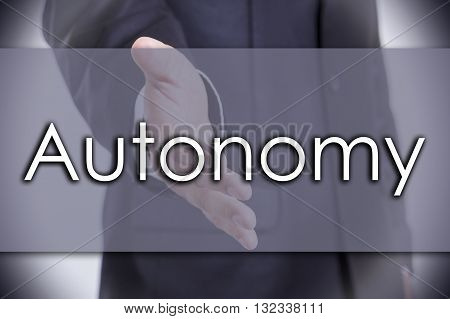 Autonomy - Business Concept With Text
