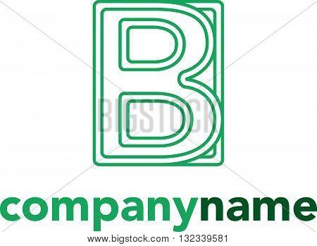 Letter B logo vector design isolated on white background