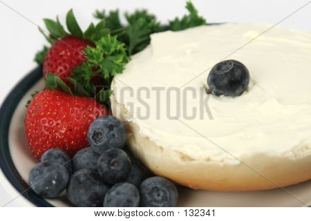 Bagel & Fruit Closeup