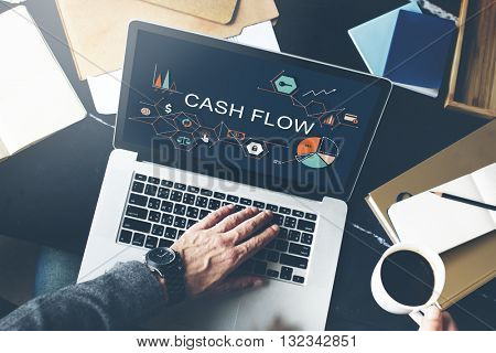 Cash Flow Finance Economy Revenue Funds Investment Concept