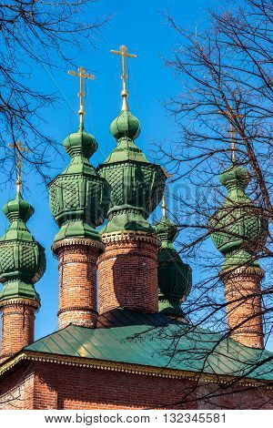 Church of the Annunciation was built in the 17th century in Yaroslavl, Russia