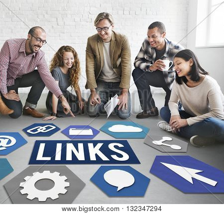 Links Internet Connection Sharing Concept
