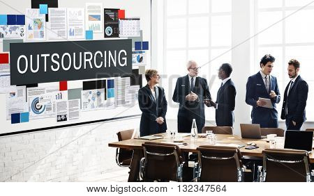 Outsourcing Function Tasks Contract Business Concept