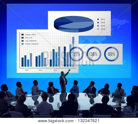 Business Chart Organisation Success Concept