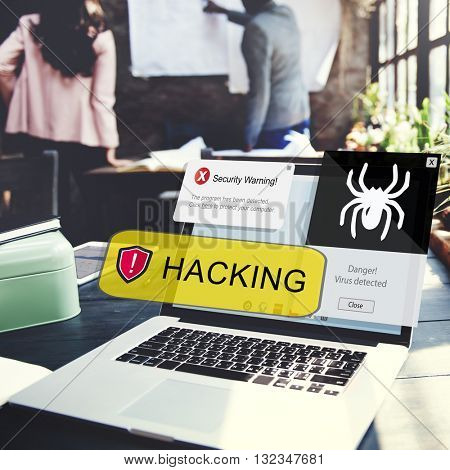 Hacking Security Protection Cyber Concept
