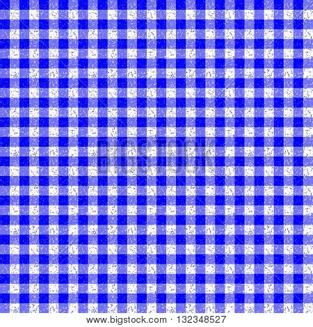 Gingham Classic Style blue and White Seamless Pattern With Speckle Effect