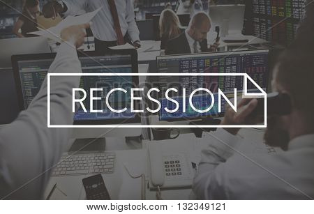 Recession Deflation Bankruptcy Accounting Crisis Concept