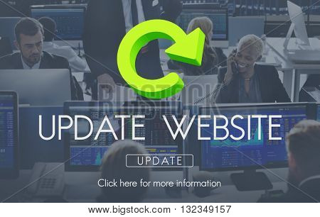Update Website Webpage Networking Concept