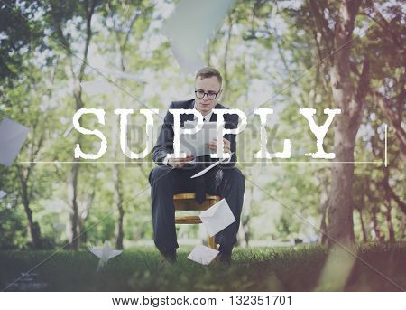 Supply Distribution Industrial Logistic Marketing Concept